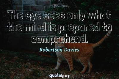 Photo Quote of The eye sees only what the mind is prepared to comprehend.