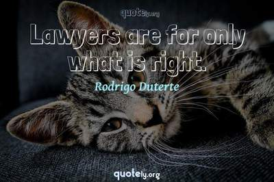 Photo Quote of Lawyers are for only what is right.