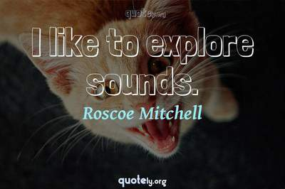 Photo Quote of I like to explore sounds.