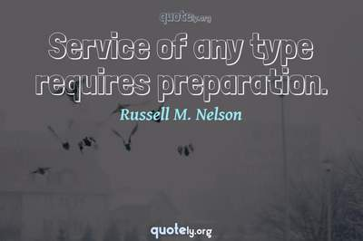 Photo Quote of Service of any type requires preparation.