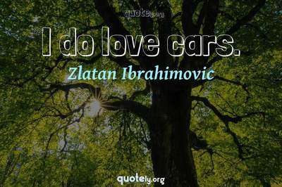 Photo Quote of I do love cars.