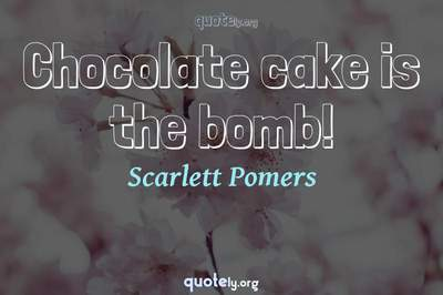 Photo Quote of Chocolate cake is the bomb!