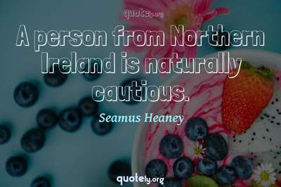 Photo Quote of A person from Northern Ireland is naturally cautious.