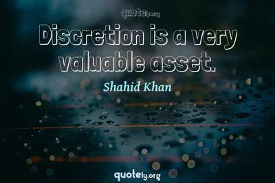 Photo Quote of Discretion is a very valuable asset.