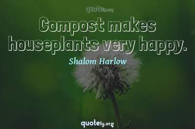 Photo Quote of Compost makes houseplants very happy.