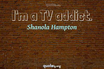 Photo Quote of I'm a TV addict.