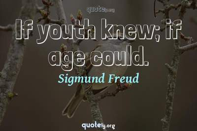 Photo Quote of If youth knew; if age could.