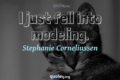 Photo Quote of I just fell into modeling.