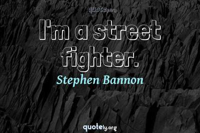 Photo Quote of I'm a street fighter.