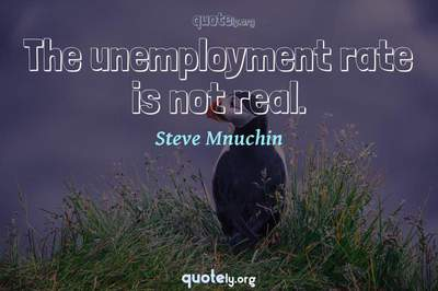 Photo Quote of The unemployment rate is not real.