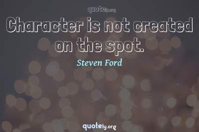 Photo Quote of Character is not created on the spot.