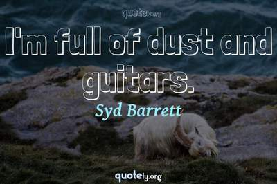 Photo Quote of I'm full of dust and guitars.
