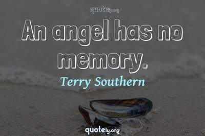 Photo Quote of An angel has no memory.