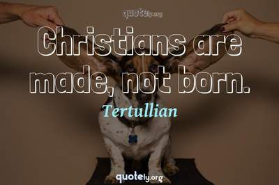 Photo Quote of Christians are made, not born.