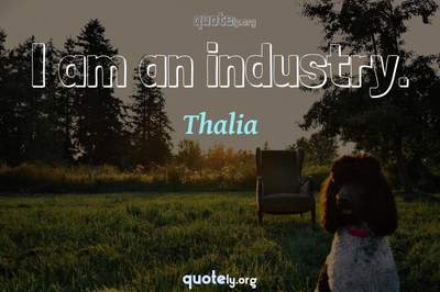 Photo Quote of I am an industry.