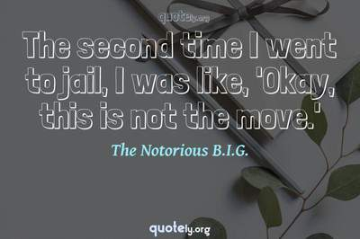 Photo Quote of The second time I went to jail, I was like, 'Okay, this is not the move.'