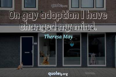 Photo Quote of On gay adoption I have changed my mind.