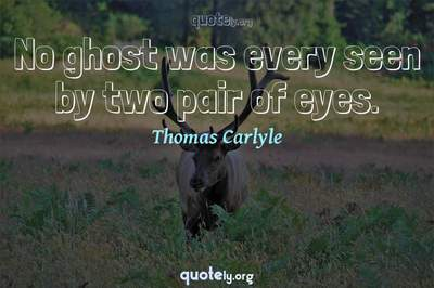 Photo Quote of No ghost was every seen by two pair of eyes.