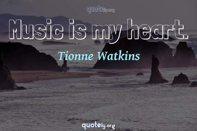 Photo Quote of Music is my heart.