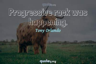 Photo Quote of Progressive rock was happening.