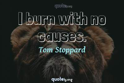 Photo Quote of I burn with no causes.