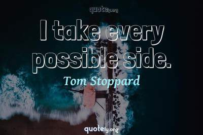 Photo Quote of I take every possible side.