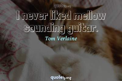 Photo Quote of I never liked mellow sounding guitar.
