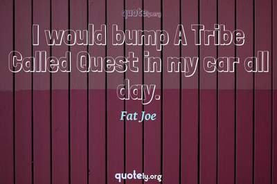 Photo Quote of I would bump A Tribe Called Quest in my car all day.
