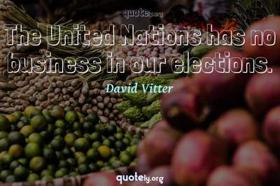 Photo Quote of The United Nations has no business in our elections.