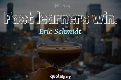 Photo Quote of Fast learners win.