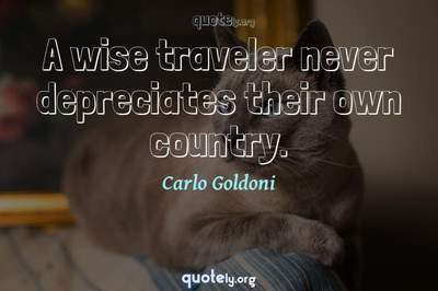 Photo Quote of A wise traveler never depreciates their own country.