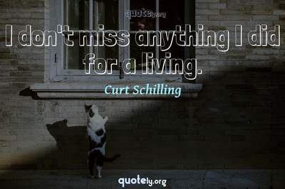 Photo Quote of I don't miss anything I did for a living.