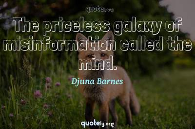 Photo Quote of The priceless galaxy of misinformation called the mind.