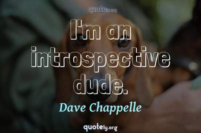 Photo Quote of I'm an introspective dude.