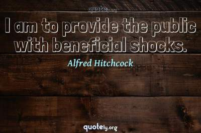 Photo Quote of I am to provide the public with beneficial shocks.