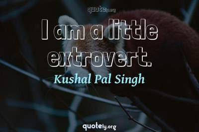 Photo Quote of I am a little extrovert.