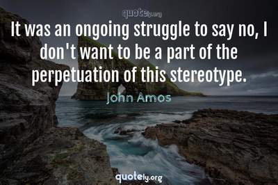 Photo Quote of It was an ongoing struggle to say no, I don't want to be a part of the perpetuation of this stereotype.