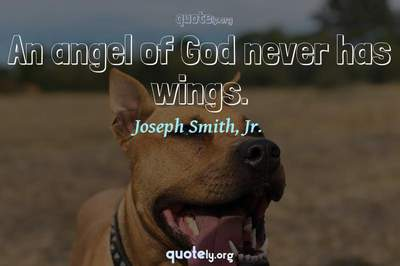 Photo Quote of An angel of God never has wings.