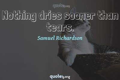 Photo Quote of Nothing dries sooner than tears.