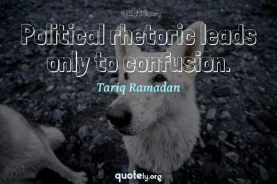 Photo Quote of Political rhetoric leads only to confusion.
