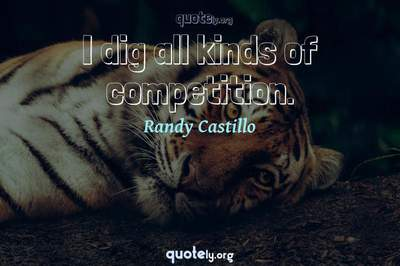Photo Quote of I dig all kinds of competition.