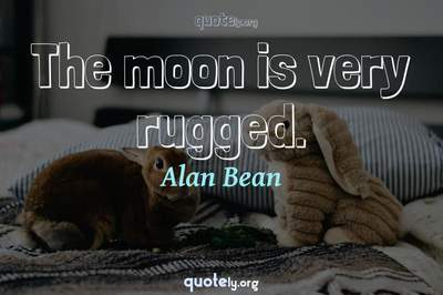 Photo Quote of The moon is very rugged.