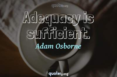 Photo Quote of Adequacy is sufficient.