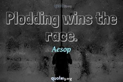 Photo Quote of Plodding wins the race.