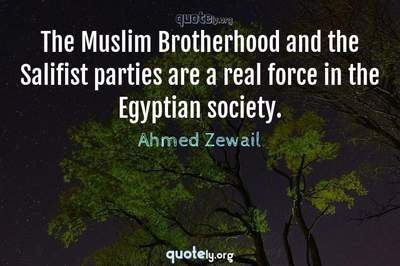 Photo Quote of The Muslim Brotherhood and the Salifist parties are a real force in the Egyptian society.