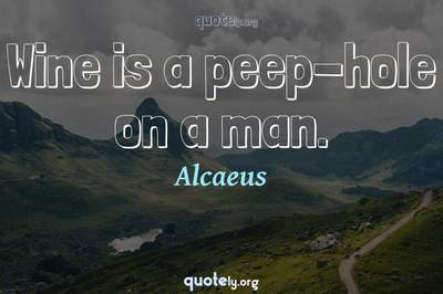 Photo Quote of Wine is a peep-hole on a man.