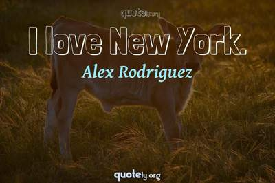 Photo Quote of I love New York.