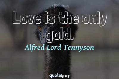 Photo Quote of Love is the only gold.