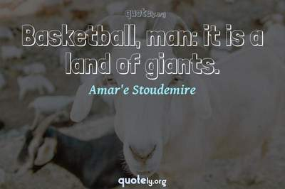 Photo Quote of Basketball, man: it is a land of giants.