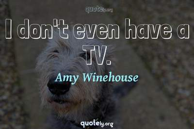Photo Quote of I don't even have a TV.